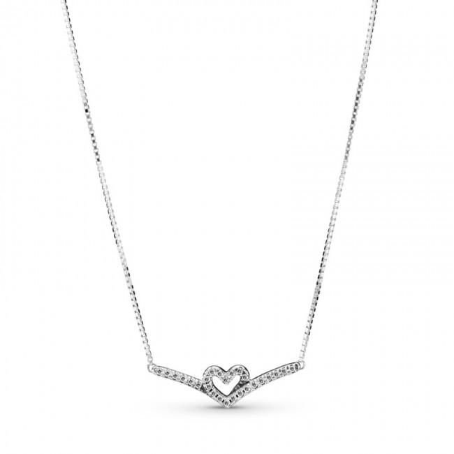 Colar Sparkling Wishbone Heart